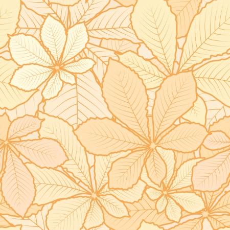 Herfst bladeren, licht naadloos patroon