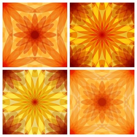 translucent: Set of crystal seamless patterns