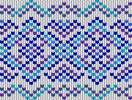 Knitted pattern, blue seamless texture Vector