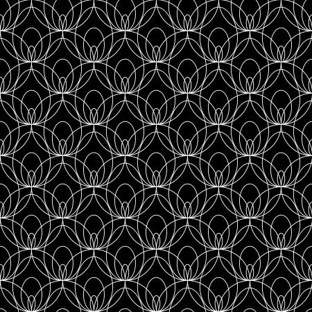 veters: Witte kanten naadloos patroon op zwarte