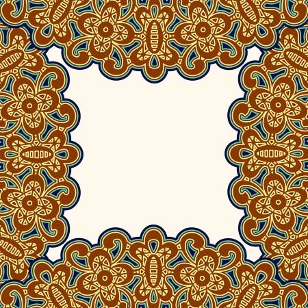 Modèle Vintage frame, fond décoratif