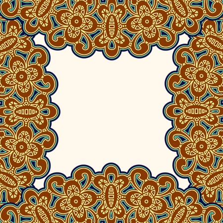 Vintage frame pattern, decorative background Vector