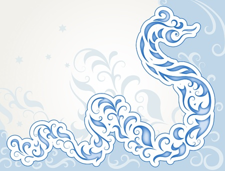 Decorative swirly snake, symbol 2013 Vector