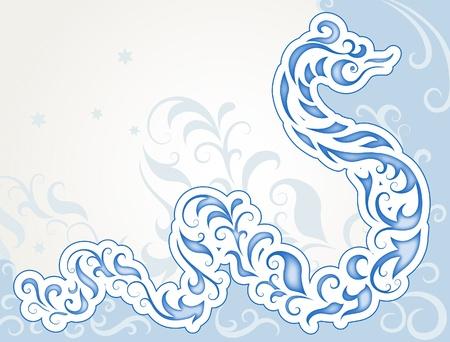 snake calendar: Decorative swirly snake, symbol 2013