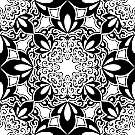 repeatable texture: Resumen patr�n sin costuras en blanco y negro Vectores