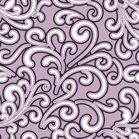 arabesque wallpaper: Abstract floral background, seamless pattern Illustration