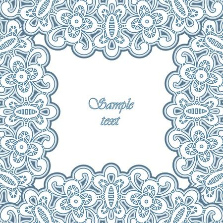 lace doily: Lacy ornamental frame, decorative background Illustration