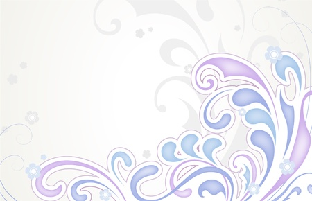 Abstract floral background in pastel colors Vector