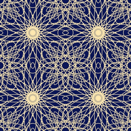 tulle: Geometric lace background, seamless pattern