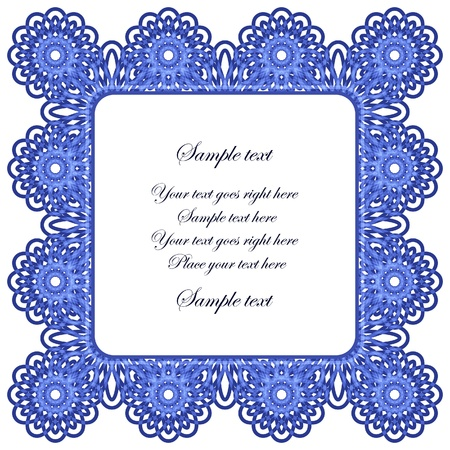 Lace frame isolated on white Vector