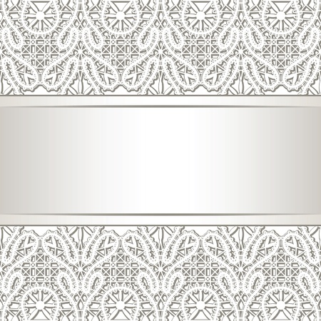 lace filigree: Realistic lace background Illustration