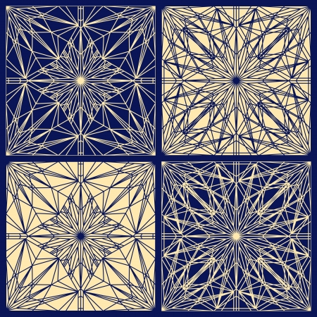 repeatable: Set of seamless geometric lace textures