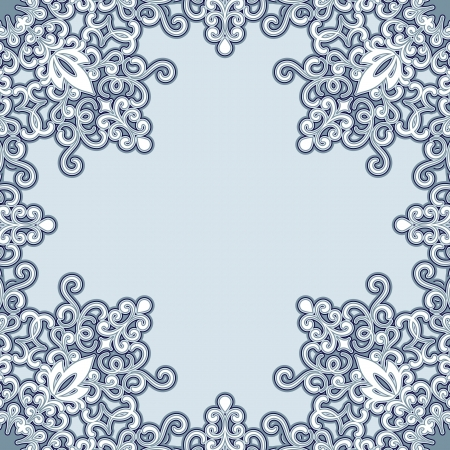 Swirly frame pattern in pastel colors Vector
