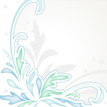 fir twig: Abstract winter background in pastel colors Illustration