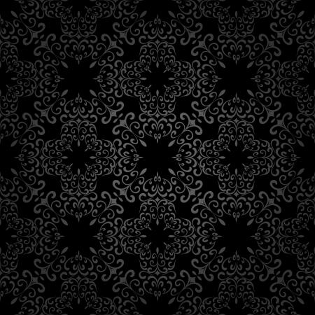 Abstract black swirls, seamless pattern Stock Vector - 16803520