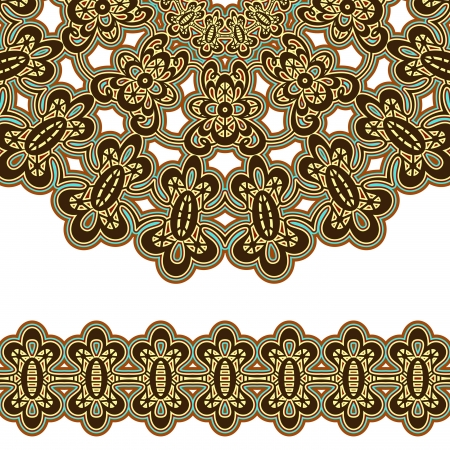 Vintage border elements isolated on white Stock Vector - 16905115