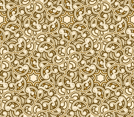 Abstract gold seamless pattern, swirl decorative texture Vector