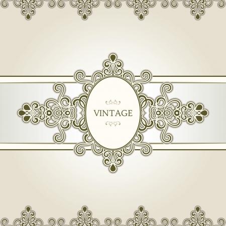 Decorative vignette frame, vintage template