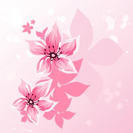 Cereza flor fondo saludo
