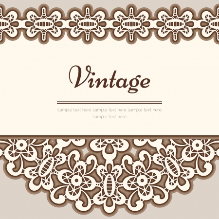 Vintage lace background Stock Vector - 17685572