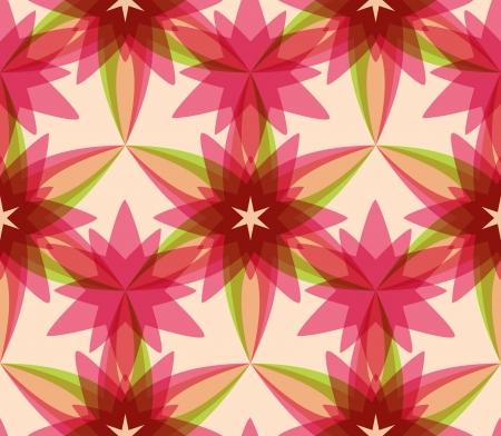 kaleidoscopic: Floral seamless pattern, abstract kaleidoscopic background Illustration