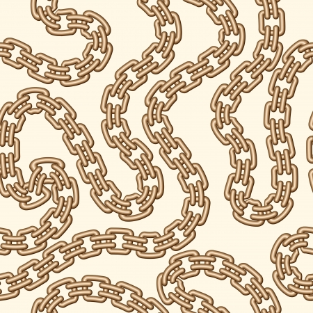 Gold chain, seamless jewelry pattern Vector