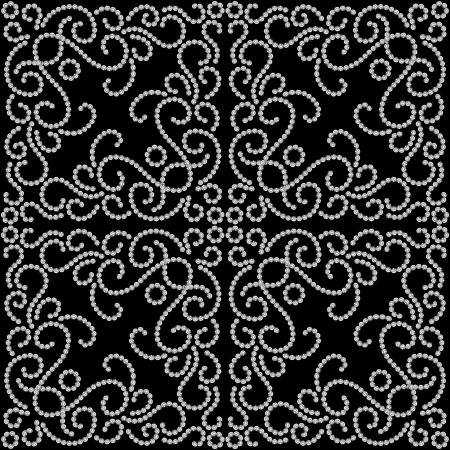 arabesque wallpaper: In bianco e nero punteggiato modello di turbolenza senza soluzione di continuit�
