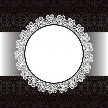 Schwarze und weiße Spitzen Hintergrund