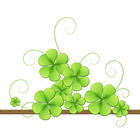 Clover background for St. Patrick�s Day Vector