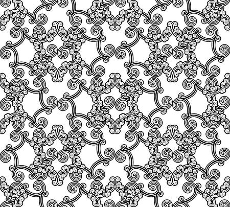 marokko: Naadloze zwart-wit patroon in Arabische stijl