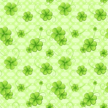 Clover green leaves seamless pattern Vector