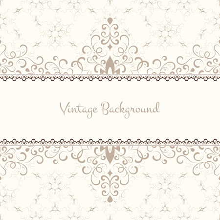 Vintage background, ornamental label design Vector