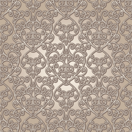 Abstract seamless pattern, vintage lattice background Vector