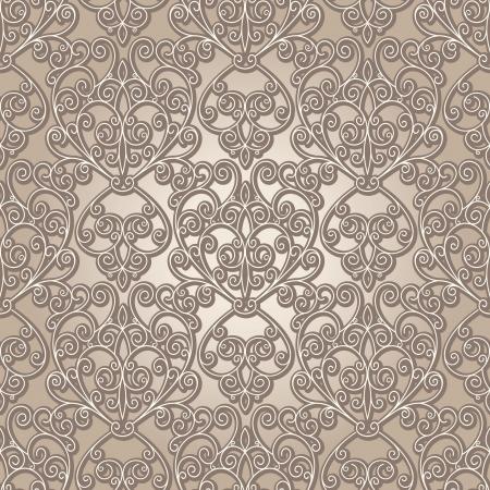 neutral background: Abstract seamless pattern, vintage lattice background Illustration