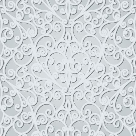 arabesque: Abstract floral background, senza soluzione di modello Vettoriali