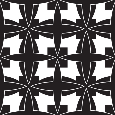 Black and white geometric seamless pattern Stock Vector - 18094721