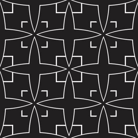 monochromatic: Black and white geometric seamless pattern