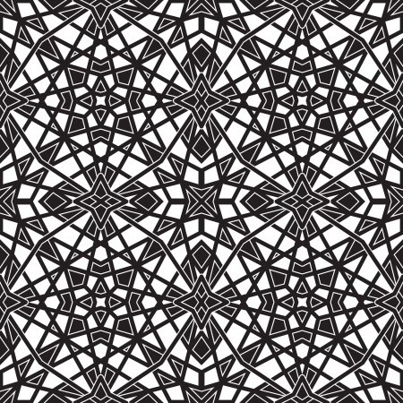 Black and white geometric seamless pattern Stock Vector - 18403316