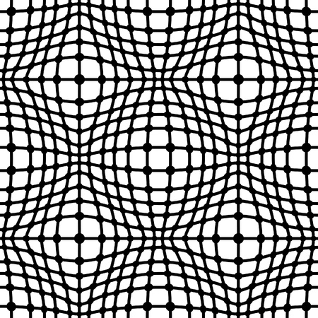Black grid on white, seamless pattern Vector