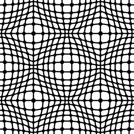 Black grid on white, seamless pattern Stock Vector - 18403258