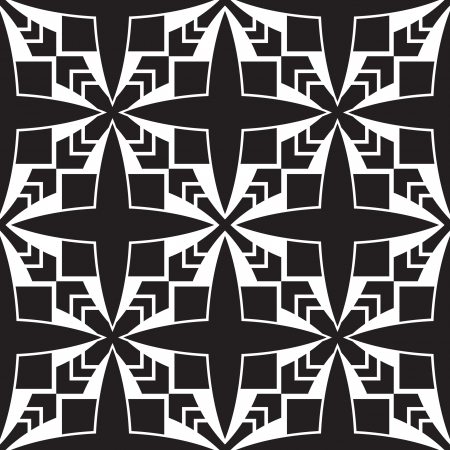 Black and white geometric seamless pattern Stock Vector - 18403313