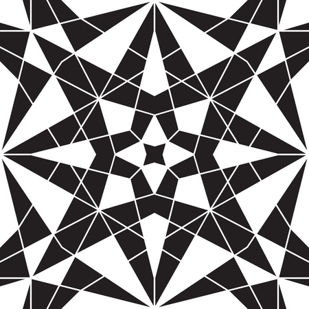 mosaic pattern: Black and white geometric seamless pattern