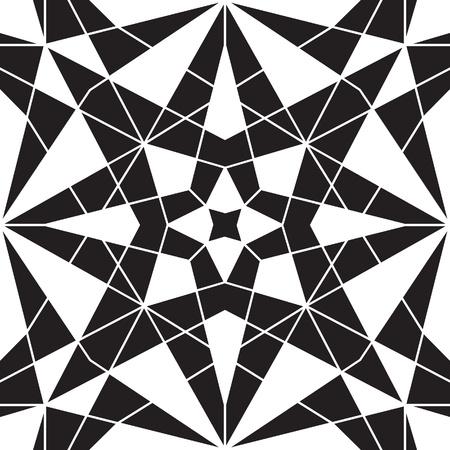 Zwart-wit geometrische naadloze patroon