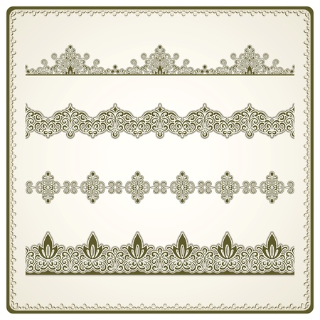 Vintage seamless borders set Stock Vector - 18538777