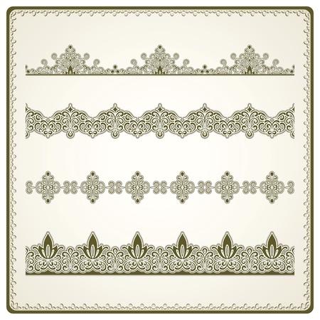 Vintage seamless borders set Stock Vector - 18538777