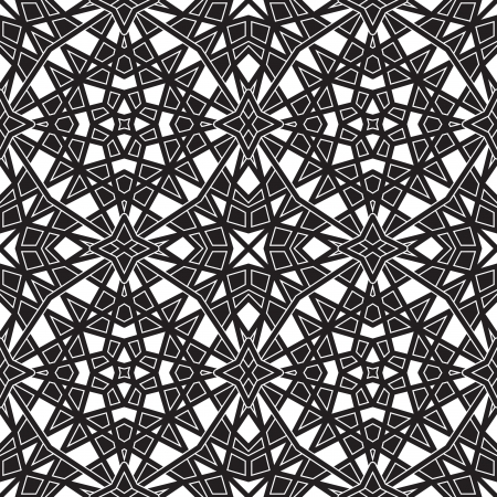 Black and white geometric seamless pattern Stock Vector - 18538774