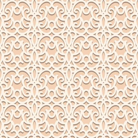 crochet: Seamless lace pattern Illustration