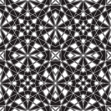 Black and white geometric seamless pattern Stock Vector - 18685735