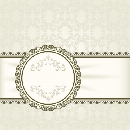 Vintage background, ornamental frame Vector