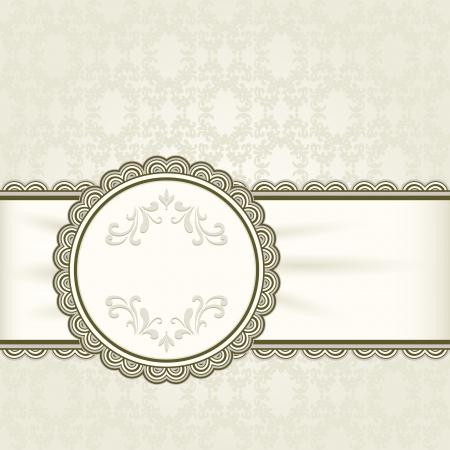 Vintage background, ornamental frame Stock Vector - 18685739